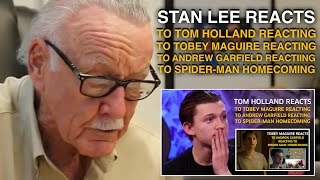 Stan Lee reacts to Tom Holland reacting to Tobey reacting to Andrew reacting to Homecoming (Parody)