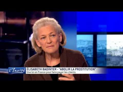 "Elisabeth Badinter : ""C'est scandaleux d'interdire la prostitution"""
