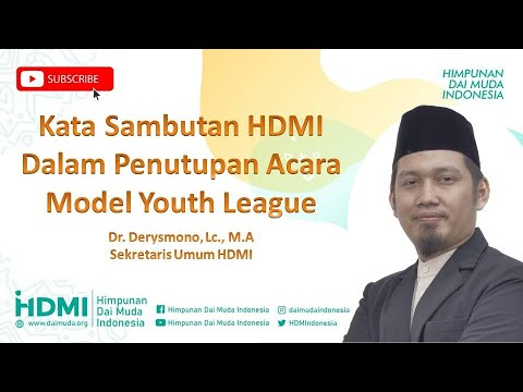 Kata Sambutan HDMI di acara (MY League) Liga Pemuda Muslim ...