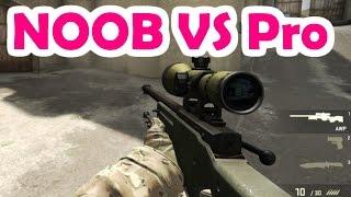 CS:GO Noob vs Pro | 1 VS 1 AWP Only