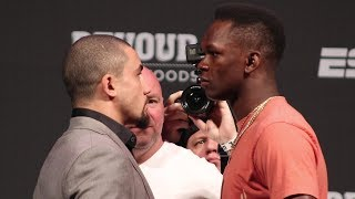 Robert Whittaker vs. Israel Adesanya Face Off