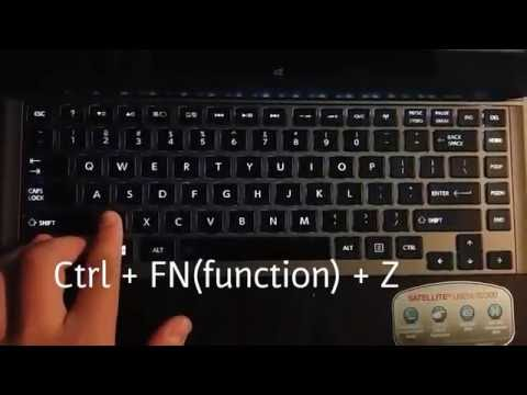 How to light up the laptop's keyboard
