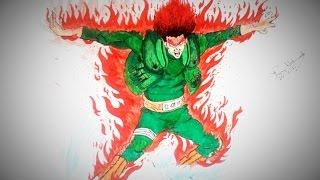 Drawing Might Gai (8 inner gates)-Naruto Shippuden