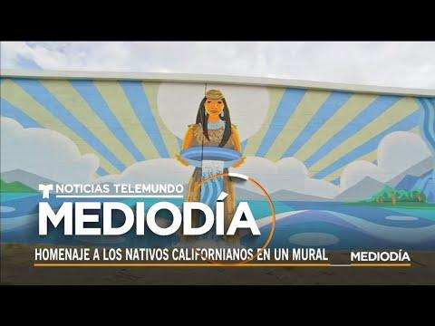 Rinden tributo a los nativos californianos con un enorme de mural titulado 'Rush Waters'