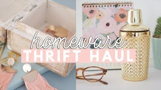 Huge Thrifted Home Decor Haul for the New House | 2018