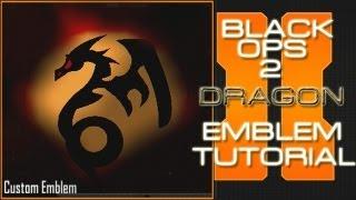 DRAGON : Call Of Duty Black Ops 2 Emblem Tutorial
