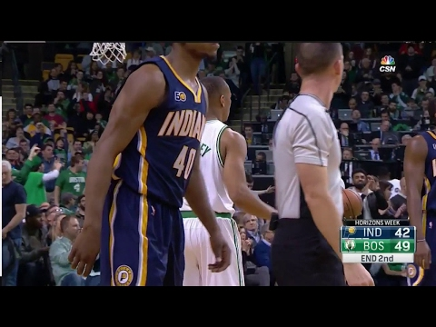 Avery Bradley beats the halftime buzzer with the quick release 3 | Pacers vs Celtics | J-MBA
