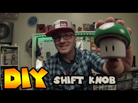 DIY | How to make a custom shift knob out of Mario 1-UP candy tin| Nintendo