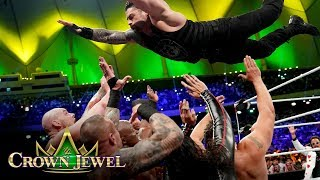 Roman Reigns defies gravity and Team Flair: WWE Crown Jewel 2019 (WWE Network Exclusive)