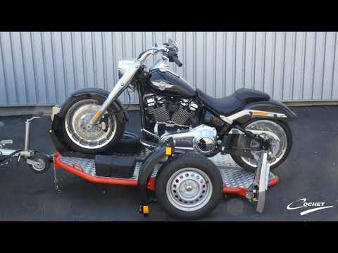 Harley Davidson Fat Boy Avec Remorque Abaissante Et Pliante COCHET UNO
