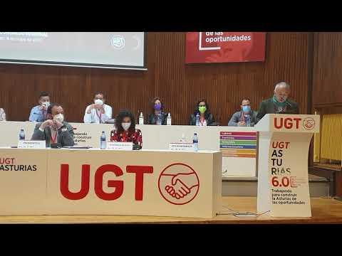 Intervención Pepe Álvarez en la clausura del XV Congreso de  UGT-Asturias