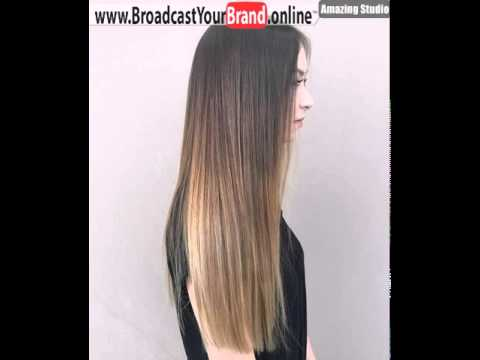 Black To Light Brown Long Straight Ombre Hair Youtube