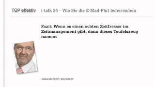 Die E-Mail-Flut beherrschen -- den Zeitfresser im Zeitmanagement: mit i-talk24