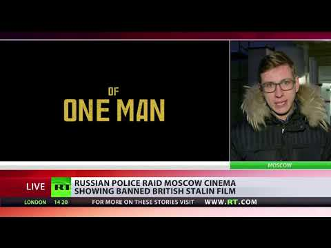 Police raid Moscow cinema showing banned British Stalin film
