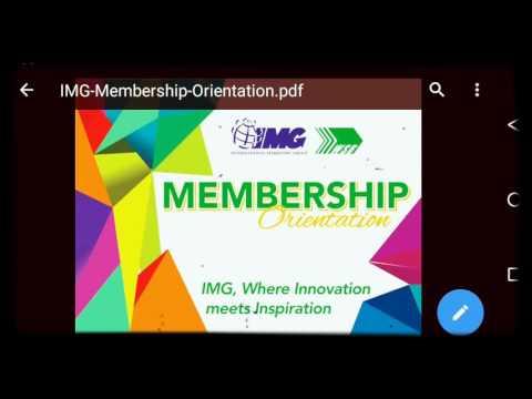 (IMG) membership orientation