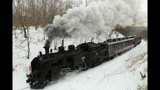 C11171「SL冬の湿原号」2019釧路湿原発車
