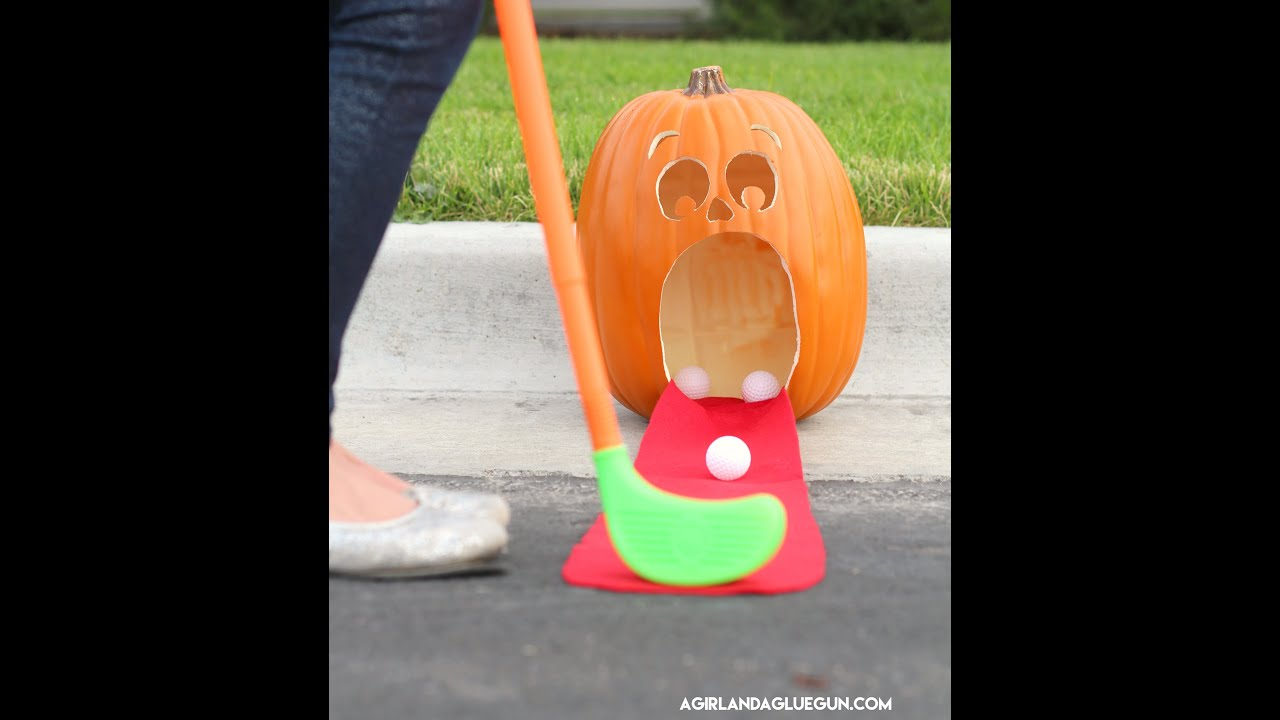 pumpkin golf for kids halloween activity youtube