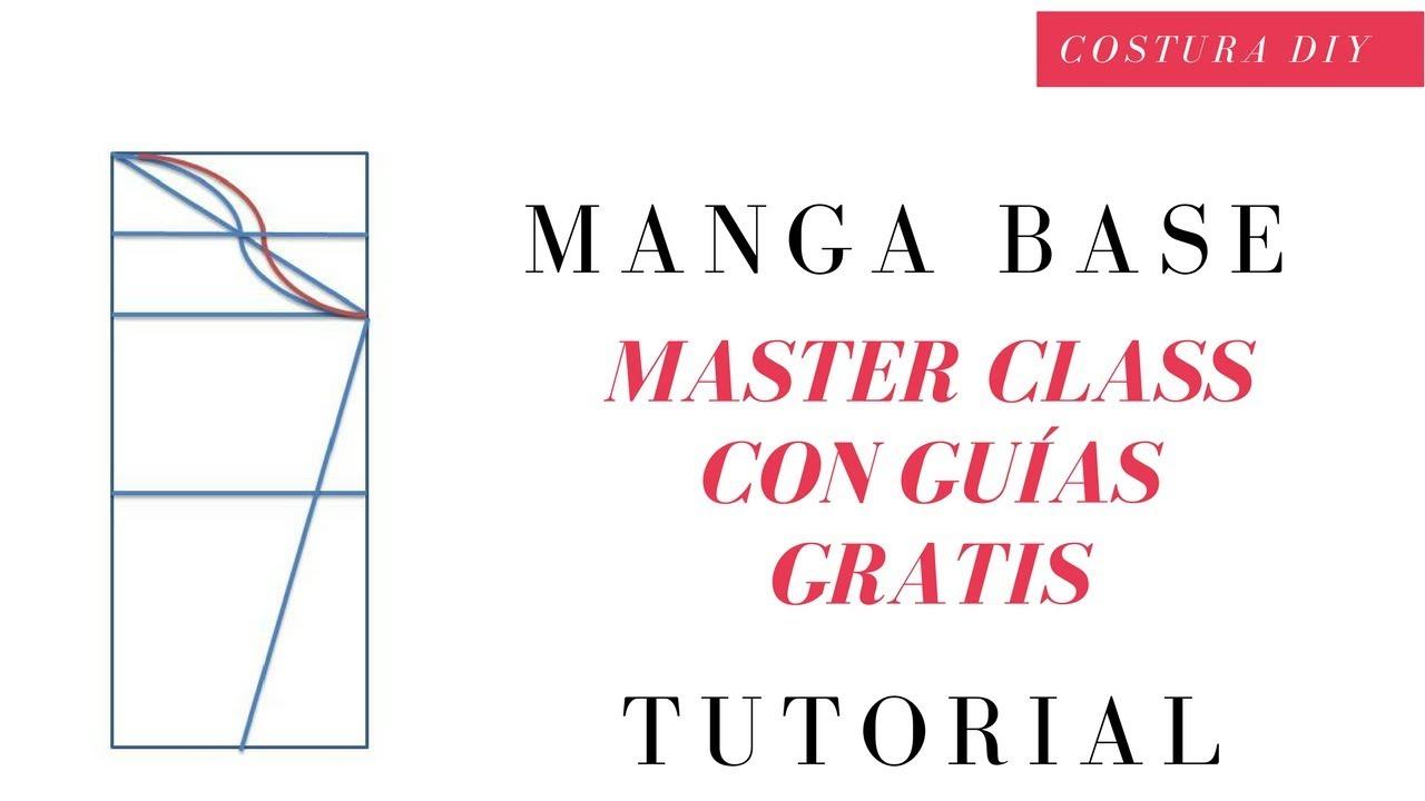 Como hacer patrón de Manga Base curso de corte y confección ...