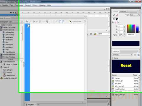 how to make a simple game in adobe flash