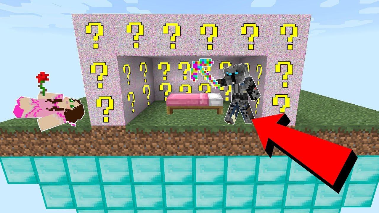 Minecraft Glitch Lucky Block Bedwars Modded Mini Game Youtube
