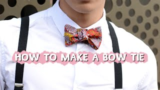 How to make a Self Tie Bow Tie