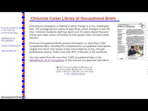 Career Research Paper How to Obtain a Brief Career Library Online Tutorial