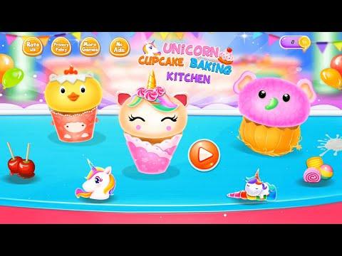 Unicorn Cupcake Baking Kitchen: Dessert Games