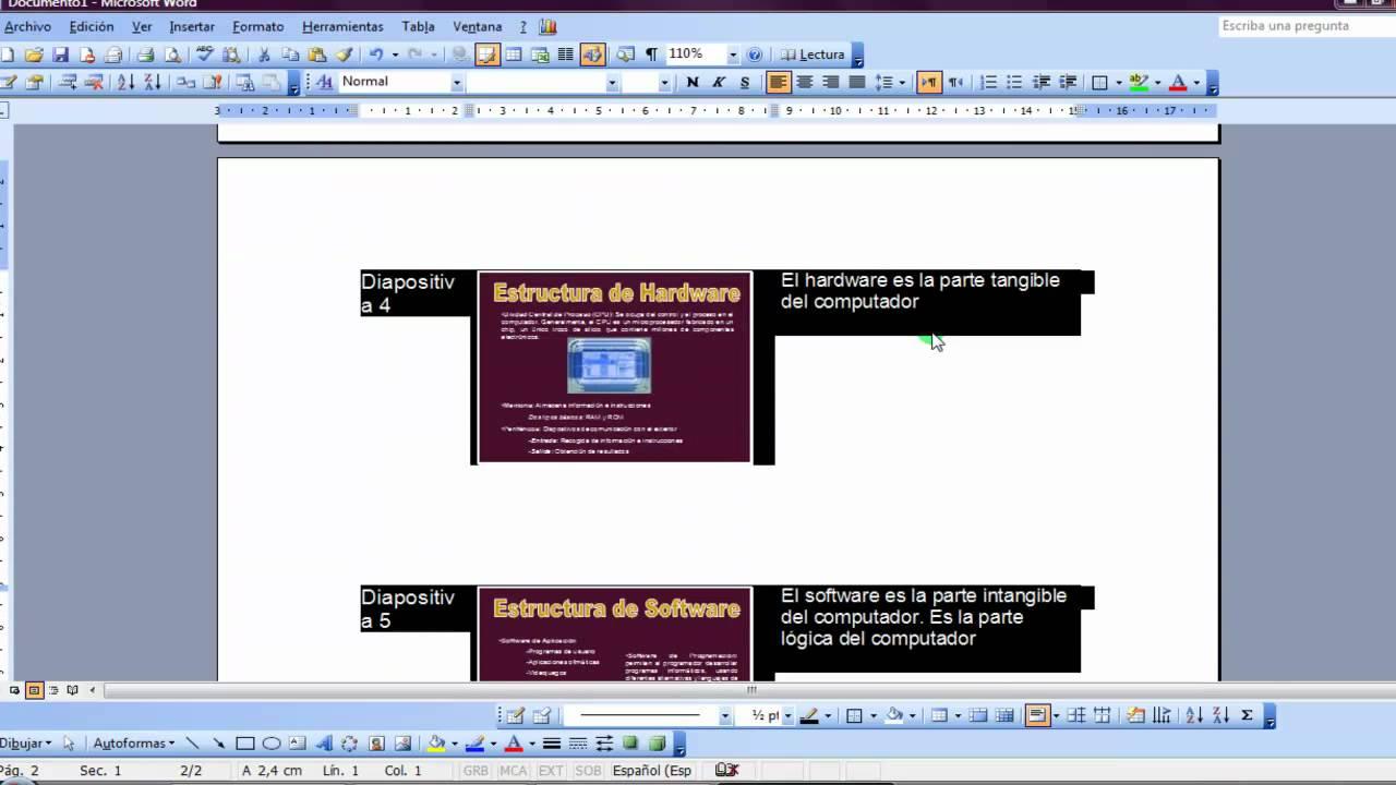 como enviar diapositivas de power point a word