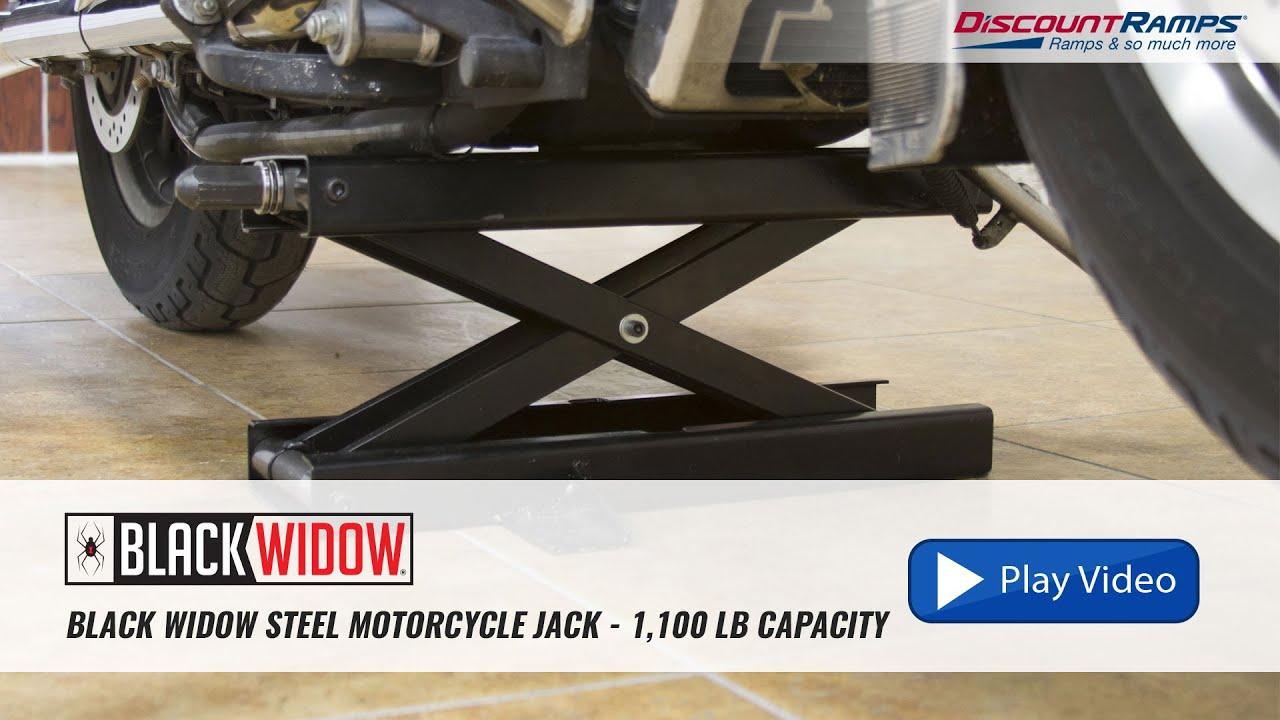 Black Widow Motorcycle Lift Jack Youtube