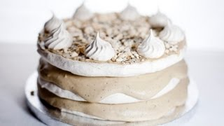 Coffee Meringue Cake - Tort Kawowo Bezowy - Recipe #69