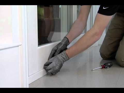 How To: Adjust Sliding Glass Door Rollers - YouTube