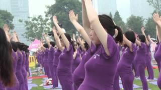 505名孕妇同练瑜伽破吉尼斯世界纪录 505 pregnant women Practice Yoga and break the Guinness World Records