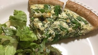 Broccolini & Goat Cheese Quiche   Blue Apron   Cooking & Review