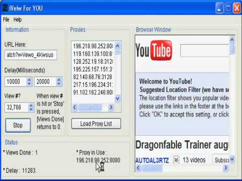 YouTube Auto Viewer-October 2011 Working flv