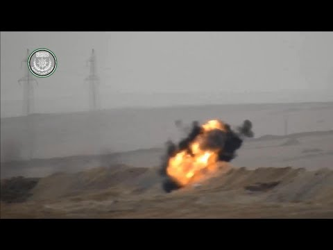 FSA's guided missile destroys regime Kornet launcher on Abu AL Ghar hill, rural east Hama