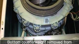 How to change the Front Bottom Counterweight on a Hotoint Washing Machine