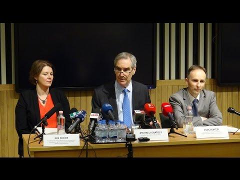 A CEU vezetésének sajtótájékoztatója a magyar parlament törvényjavaslattal szemben
