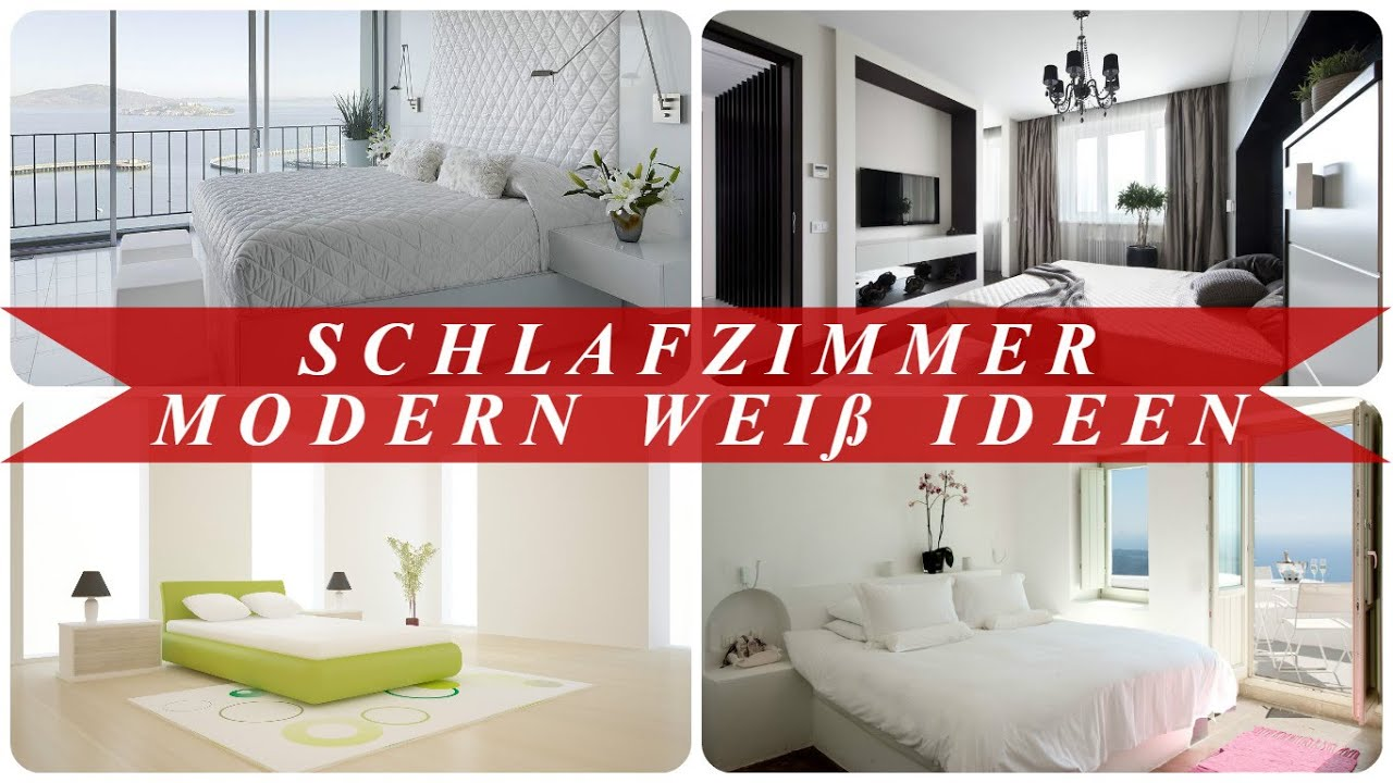 schlafzimmer modern wei ideen youtube. Black Bedroom Furniture Sets. Home Design Ideas