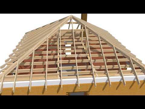Как построить трехскатную крышу дома своими руками