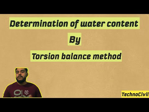 determination-of-water-content|torsion-balance-method|gate(civil)2021