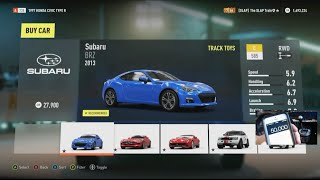 Forza Horizon 2 Drifting on a Budget - 50k Subaru Brz w/Wheel Cam