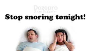 What causes snoring and how to stop