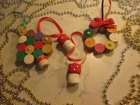 Lavoretti Di Natale Con I Tappi Di Sughero.Diy Addobbi Natalizi Con Tappi Di Sughero Riciclo Creativo Con Tappi Di Sughero Tutorial Addobbi