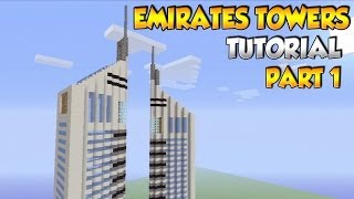Minecraft Skyscraper Tutorial: How to build the Emirates Towers in Minecraft PART 1 - XBOX/PS3/PC