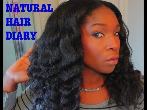 NATURAL HAIR DIARY HEAT FREE STYLING WHILE FLAT IRONED