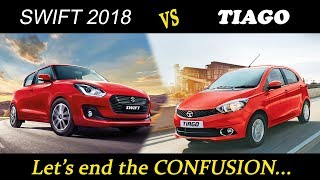 Maruti Suzuki Swift 2018 vs Tata Tiago (top model comparision)
