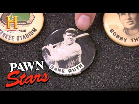 Pawn Stars: HOME RUN DEAL for VINTAGE Baseball Pins (Season 6)   History