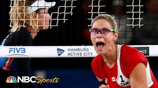 Team USA and April Ross battle Canada for beach volleyball world championship | NBC Sports