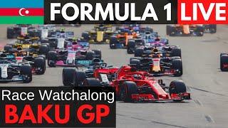 🔴F1 LIVE Baku (Azerbaijan) GP Race Watchalong  RACE RESTART NOW Commentary + Radio, F1 Live Timing