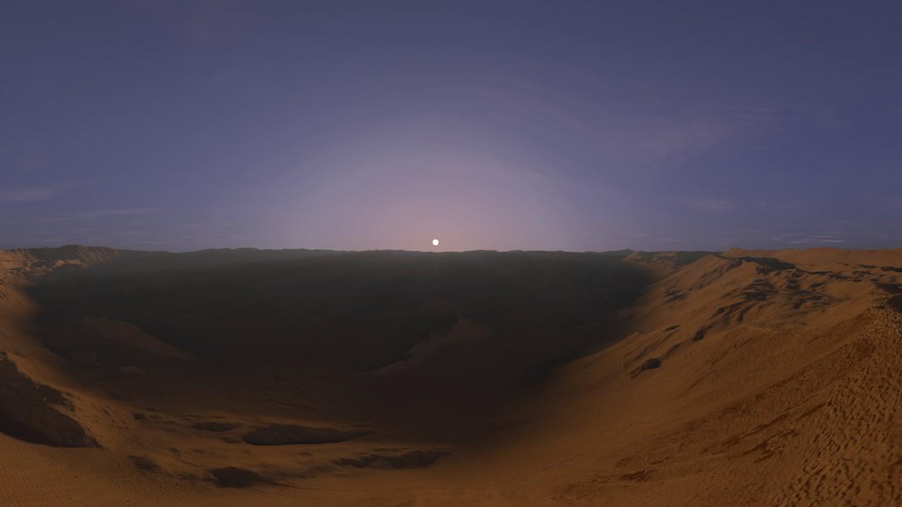 View Sunrise On Mars In Domoni Crater YouTube - Sunrise looks like mars